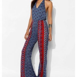 Urban Outfitters Raga Printed Jumpsuit